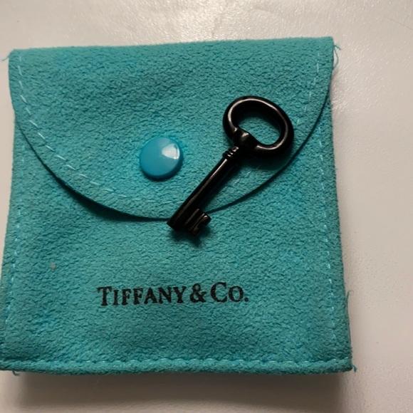 Tiffany & Co Black Jade Key pendant